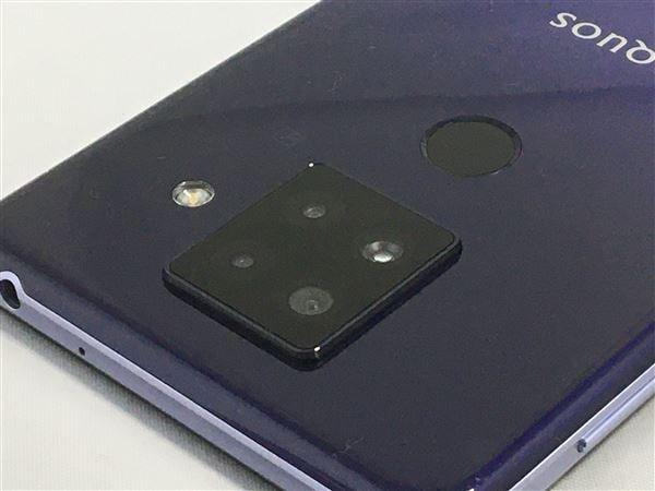 【中古】【安心保証】 SIMフリー SH-M16 パープル