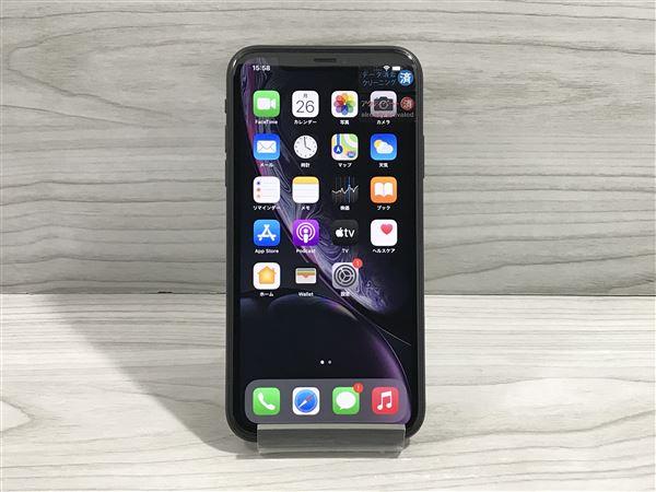 【中古】【安心保証】 iPhoneXR[128GB] SIMフリー ブラック