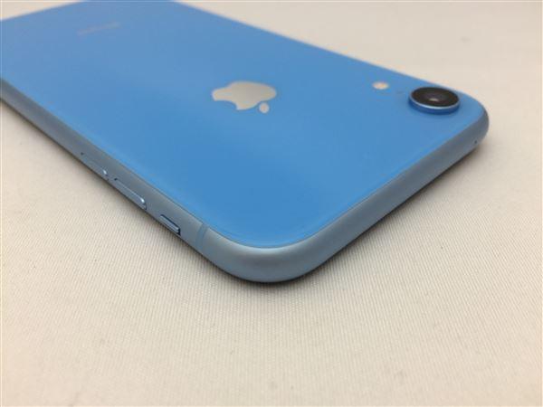 【中古】【安心保証】 iPhoneXR[128GB] SIMフリー ブルー