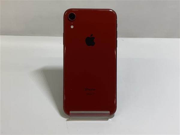 【中古】【安心保証】 iPhoneXR[128GB] SIMフリー レッド
