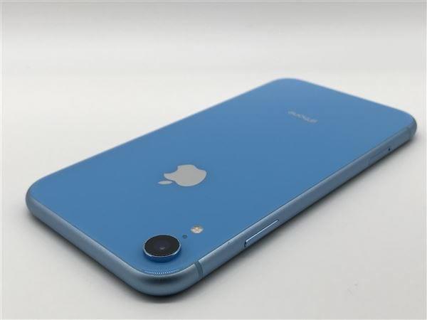 【中古】【安心保証】 iPhoneXR[64GB] SIMフリー ブルー