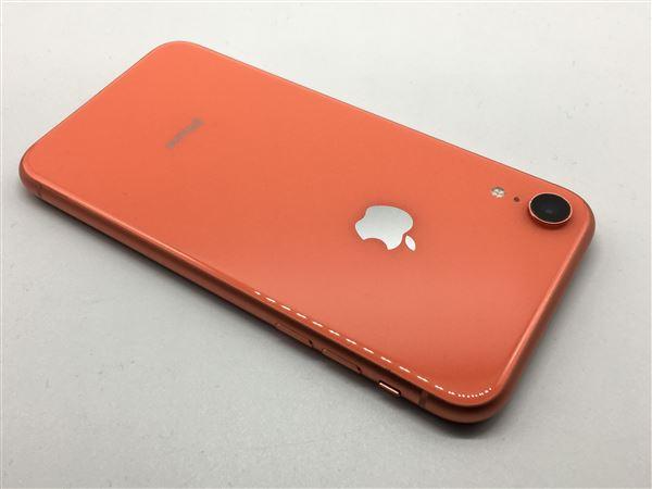 【中古】【安心保証】 iPhoneXR[256GB] SIMフリー コーラル