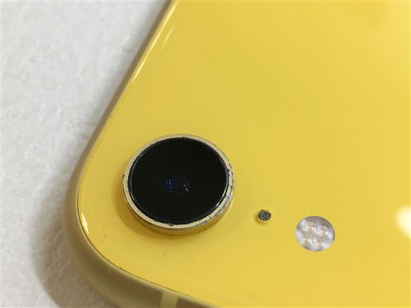 【中古】【安心保証】 iPhoneXR[256GB] SIMフリー イエロー
