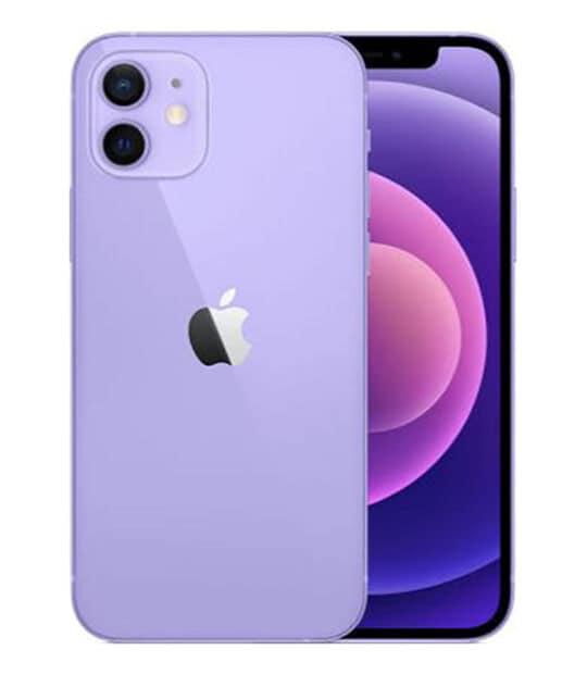 【中古】【安心保証】 iPhone12[64GB] au NJNH3J パープル