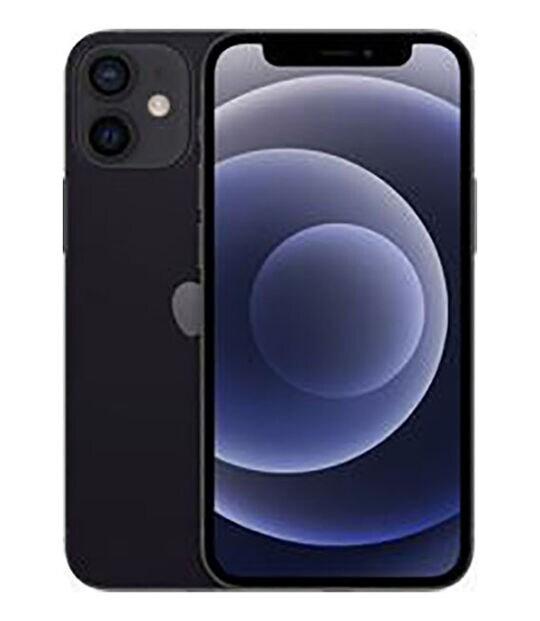 【中古】【安心保証】 iPhone12mini[64GB] au 3H475J ブラック