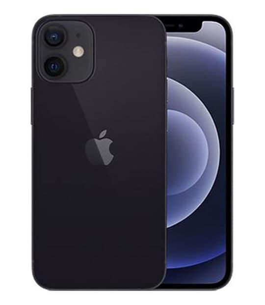 【中古】【安心保証】 iPhone12mini[64GB] UQモバイル MGA03J ブラック