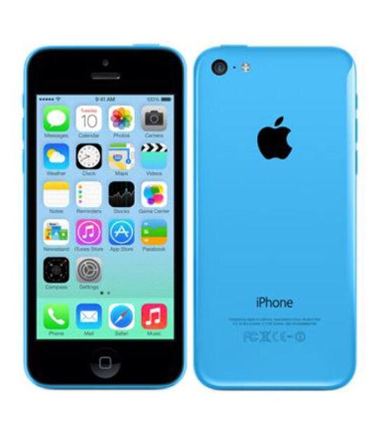 【中古】【安心保証】 iPhone5c[16GB] au ME543J ブルー