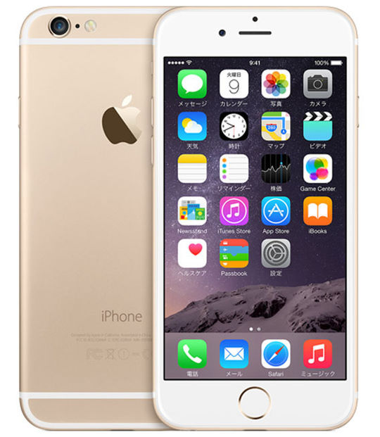 【中古】【安心保証】 iPhone6[128GB] SoftBank NG4E2J ゴールド