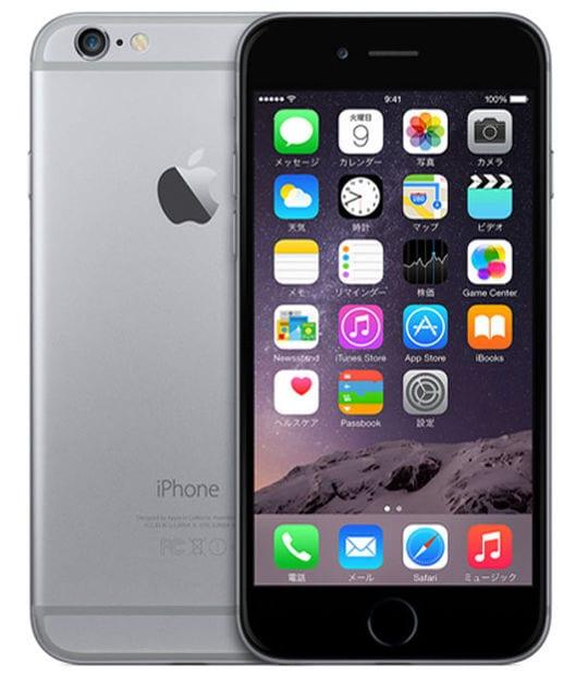 【中古】【安心保証】 iPhone6[64GB] au NG4F2J スペースグレイ
