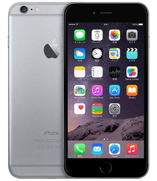 【中古】【安心保証】 iPhone6Plus[16GB] au NGA82J スペースグレイ