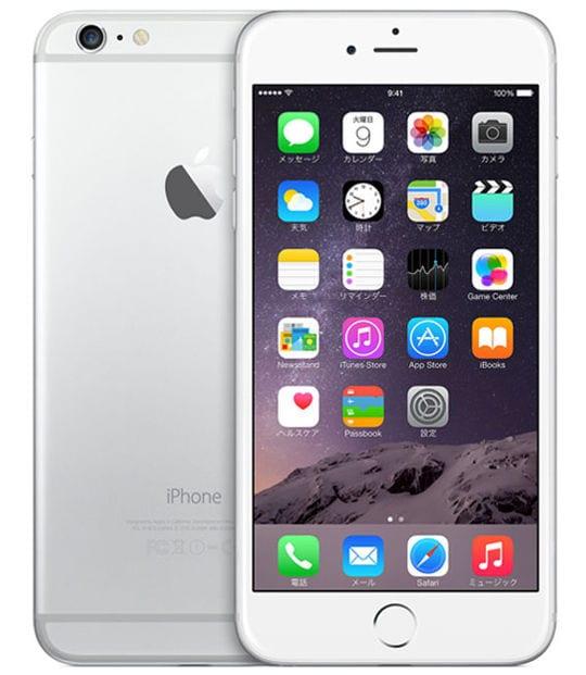 【中古】【安心保証】 iPhone6Plus[64GB] au NGAJ2J シルバー