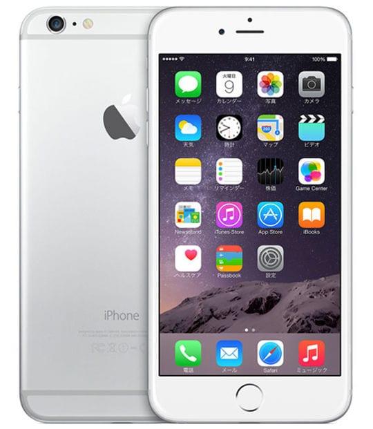 【中古】【安心保証】 iPhone6Plus[128GB] au NGAE2J シルバー