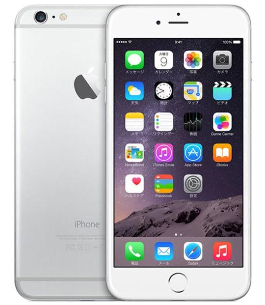 【中古】【安心保証】 iPhone6Plus[128GB] SoftBank NGAE2J シルバー