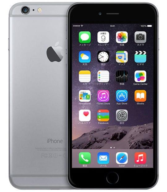 【中古】【安心保証】 iPhone6Plus[64GB] au NGAH2J スペースグレイ