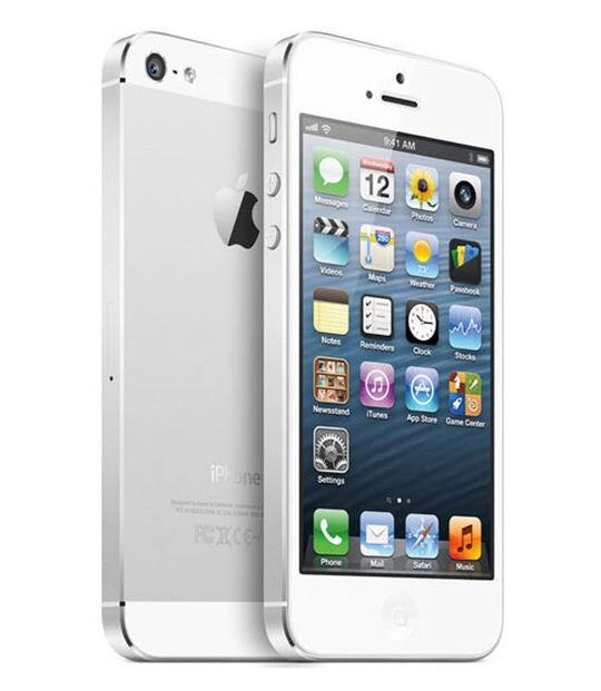 【中古】【安心保証】 iPhone5[16GB] au ME040J ホワイト&シルバー
