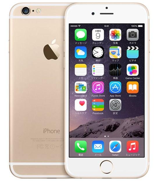 【中古】【安心保証】 iPhone6[64GB] docomo MG4J2J ゴールド