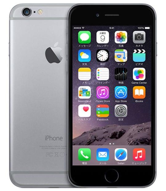 【中古】【安心保証】 iPhone6[16GB] au MG472J スペースグレイ