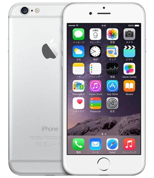 【中古】【安心保証】 iPhone6[16GB] au MG482J シルバー