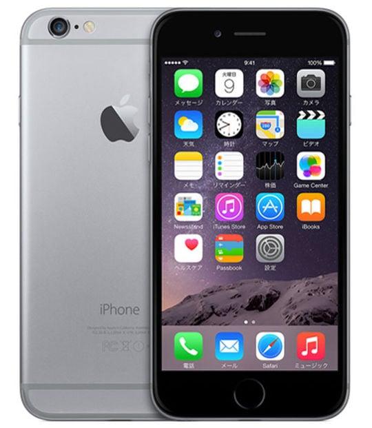【中古】【安心保証】 iPhone6[64GB] au MG4F2J スペースグレイ