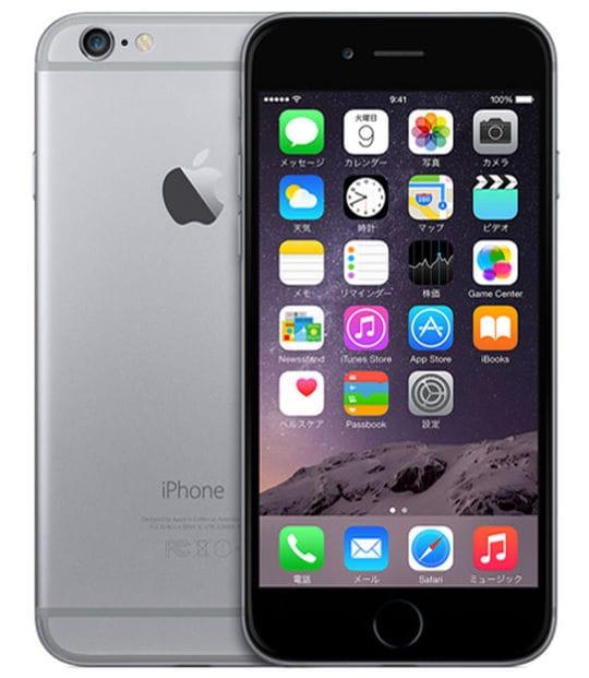 【中古】【安心保証】 iPhone6[128GB] au MG4A2J スペースグレイ