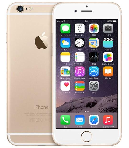 【中古】【安心保証】 iPhone6[128GB] au MG4E2J ゴールド