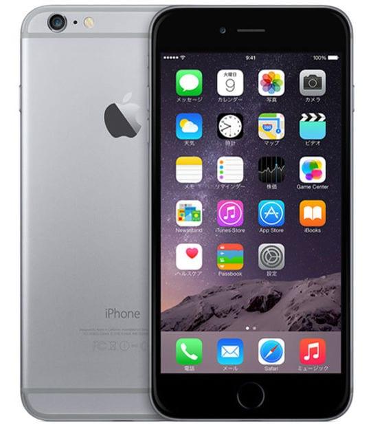 【中古】【安心保証】 iPhone6Plus[64GB] au MGAH2J スペースグレイ