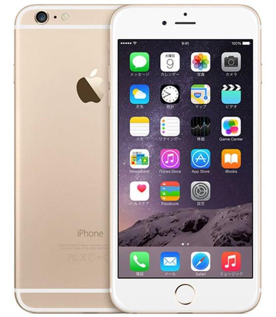 【中古】【安心保証】 iPhone6Plus[128GB] au MGAF2J ゴールド
