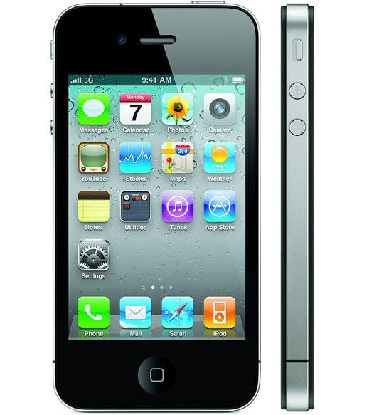 【中古】【安心保証】 SoftBank iPhone4[32G] ブラック