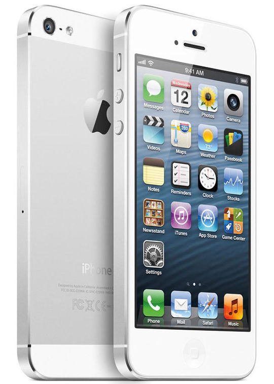 【中古】【安心保証】 iPhone5[16GB] au ND105J ホワイト&シルバー