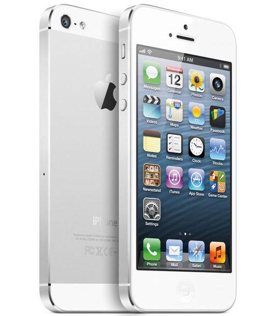 【中古】【安心保証】 iPhone5[32GB] au ND144J ホワイト&シルバー