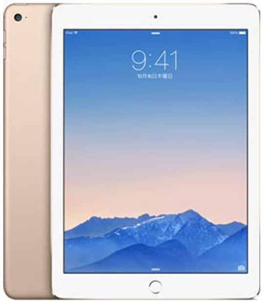 【中古】【安心保証】 iPadAir 9.7インチ 第2世代[128GB] セルラー docomo ゴールド