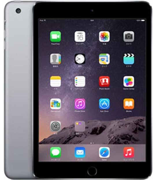【中古】【安心保証】 iPadmini3 7.9インチ[16GB] セルラー docomo スペースグレイ