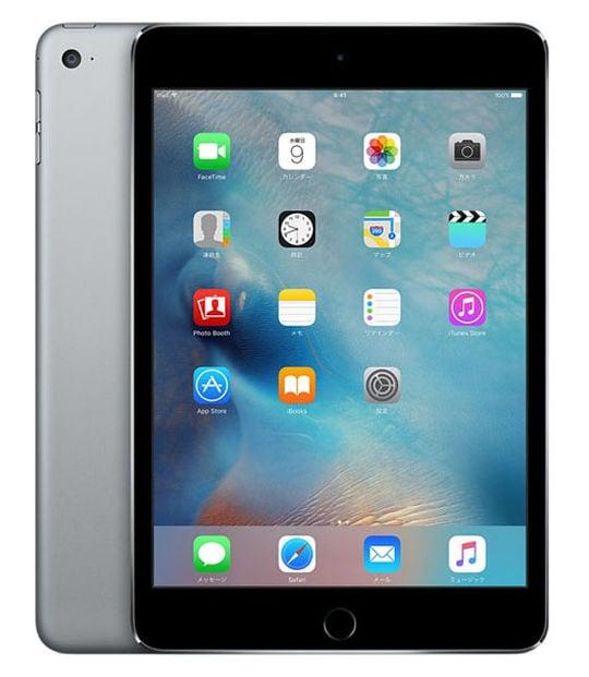 【中古】【安心保証】 iPadmini4 7.9インチ[128GB] SIMフリー スペースグレイ