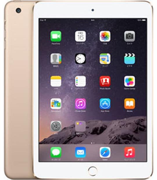 【中古】【安心保証】 iPadmini3 7.9インチ[128GB] セルラー SoftBank ゴールド