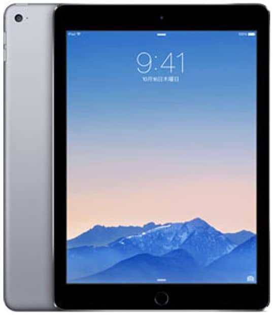 【中古】【安心保証】 iPadAir 9.7インチ 第2世代[64GB] セルラー au スペースグレイ