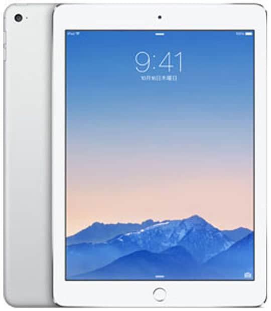 【中古】【安心保証】 iPadAir 9.7インチ 第2世代[64GB] セルラー au シルバー