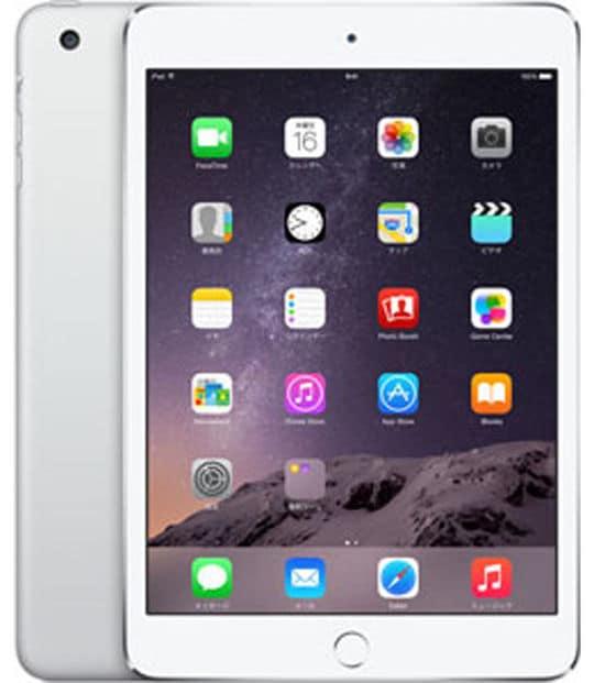 【中古】【安心保証】 iPadmini3 7.9インチ[128GB] セルラー au シルバー