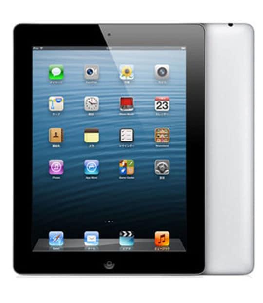 【中古】【安心保証】 iPad4/iPadRetinaディスプレイ 9.7インチ[32GB] セルラー au ブラック