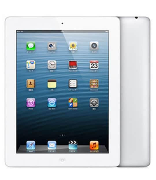 【中古】【安心保証】 iPad4/iPadRetinaディスプレイ 9.7インチ[16GB] セルラー au ホワイト