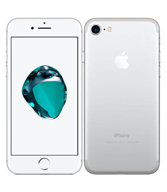 【中古】【安心保証】 iPhone7[128GB] SIMロック解除 au シルバー