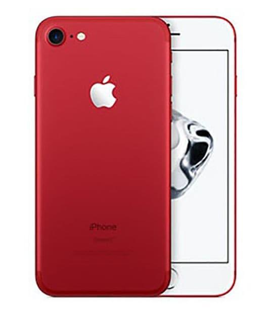 【中古】【安心保証】 iPhone7[128GB] SIMフリー レッド