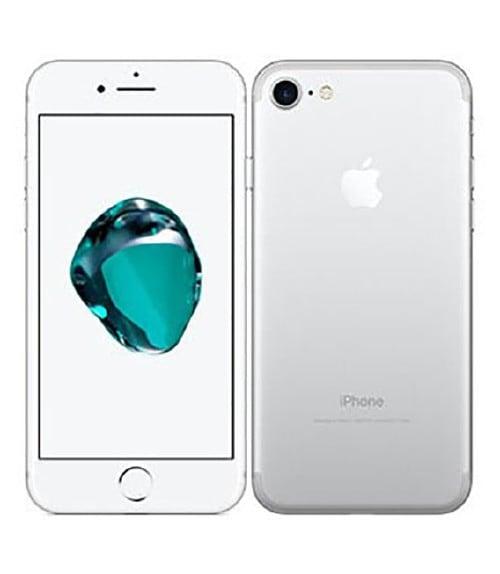 【中古】【安心保証】 au iPhone7[32G BT] シルバー