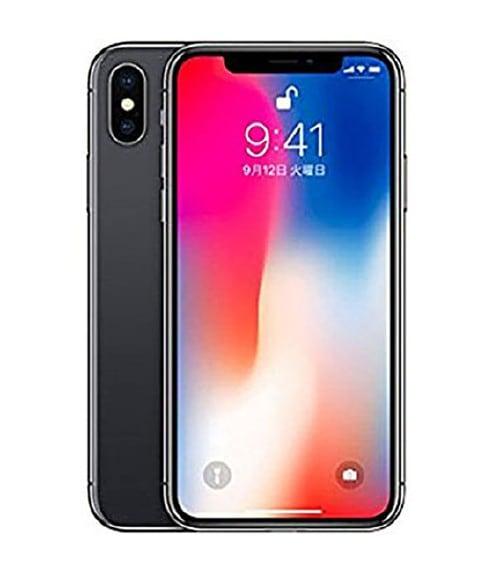 【中古】【安心保証】 iPhoneX[256GB] au NQC12J スペースグレイ