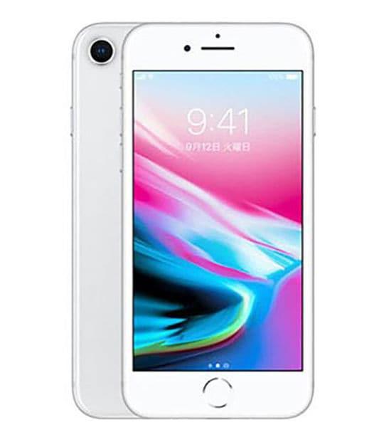 【中古】【安心保証】 iPhone8[64GB] au NQ792J シルバー