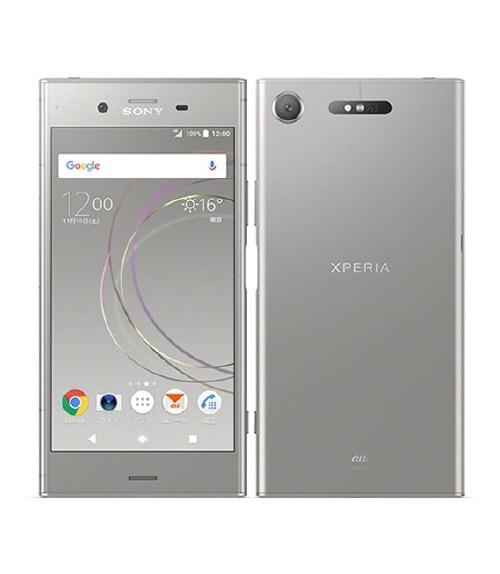 【中古】【安心保証】 Xperia XZ1 SOV36[64GB] au ウォームシルバー