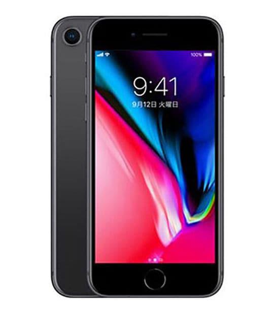 【中古】【安心保証】 iPhone8[256GB] SIMロック解除 au スペースグレイ
