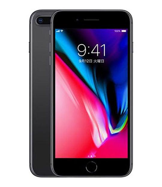 【中古】【安心保証】 iPhone8Plus[64GB] SIMロック解除 au スペースグレイ