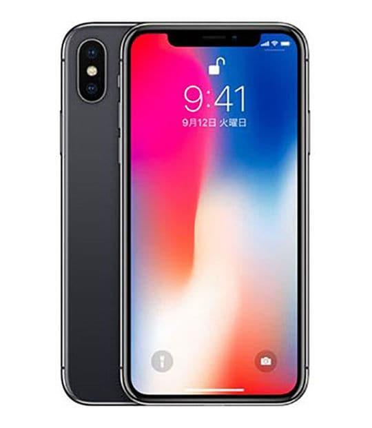 【中古】【安心保証】 iPhoneX[64GB] SIMロック解除 au スペースグレイ