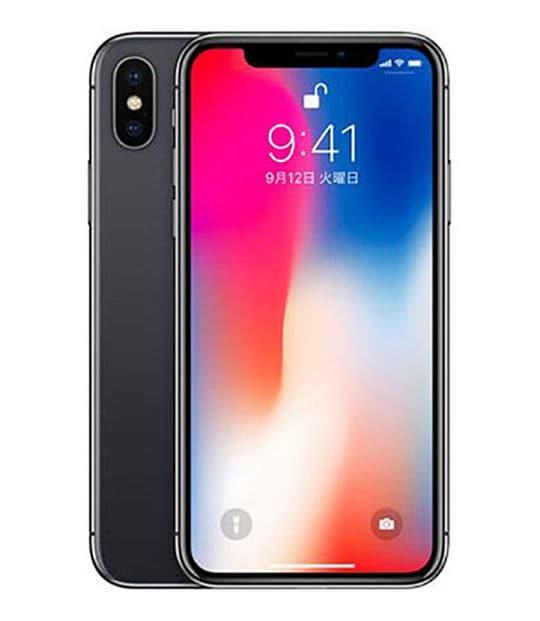 【中古】【安心保証】 iPhoneX[256GB] SIMロック解除 au スペースグレイ