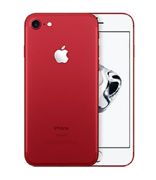 【中古】【安心保証】 iPhone7[128GB] au MPRX2J レッド